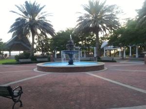 A fountain near the park.